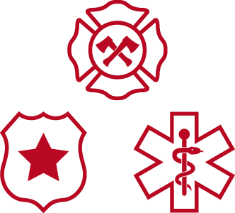 Three first responders services